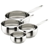 Casserole Belly D : 14,16,18 et 20 cm - inox - lot de 4