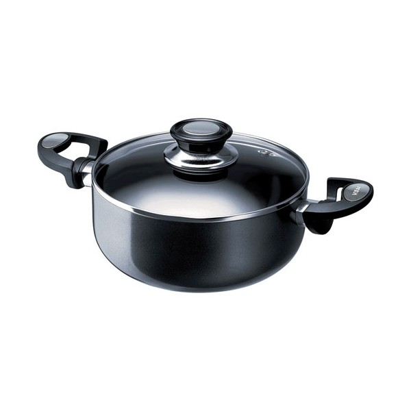 Faitout Pro induction D : 24 cm + couvercle - aluminium - anthracite - 13071244 - BEKA