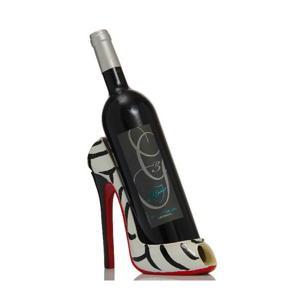 Stunning chaussure jungle blanc noir rouge with range for Porte bouteille decoratif