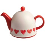 Théière 0.80 L Team time hearts - porcelaine