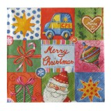 Serviette en papier Christmas gifts 33 x 33 cm - lot de 20