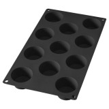 Moule gourmet 11 mini-muffins - silicone, noir