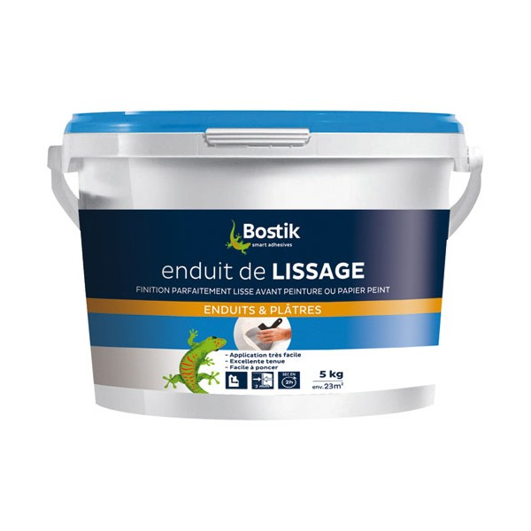 Enduit de lissage p te 5 kg 30604194 bostik home for Video enduit de lissage