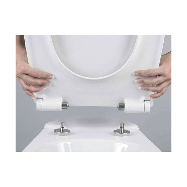 Abattant wc dp pebble beach d clipsable blanc 531640 cedo home boulevard - Abattant wc frein de chute declipsable ...