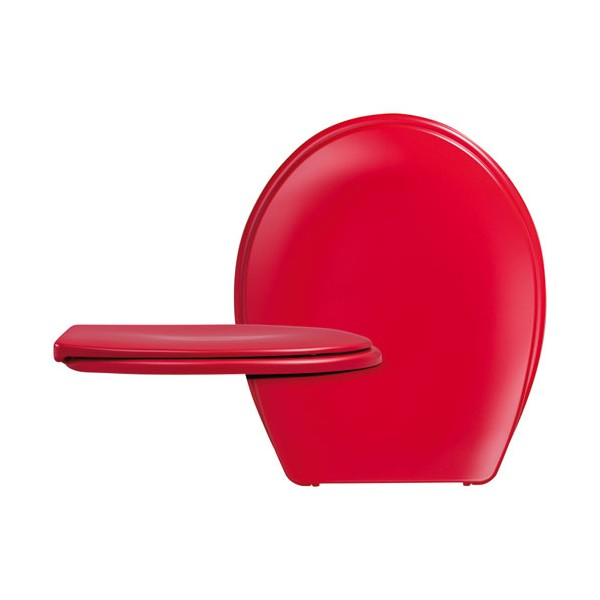 Abattant WC DP Long Beach rouge - 525556 - CEDO