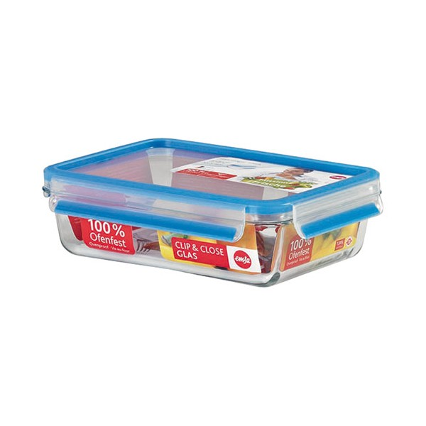 Boîte clip & close rectangulaire 1.40 L  - 513920 - EMSA