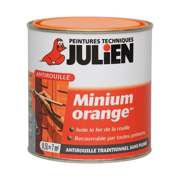 Antirouille primaire 0.50 L - orange - 5107982 - JULIEN
