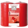 Bougie rouge 48 x 80 mm parfum grenadine - lot de 2 - 1173391 - Le chat