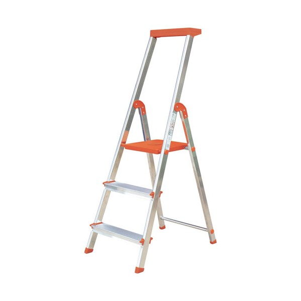 Escabeau 3 marches mandarine bri030mandarina rolser - Escabeau 3 marches ...
