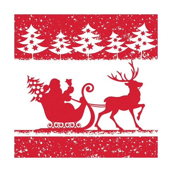 Serviette Saint Nicolas 33x33 cm 3 plis - lot de 20 - HOSTI