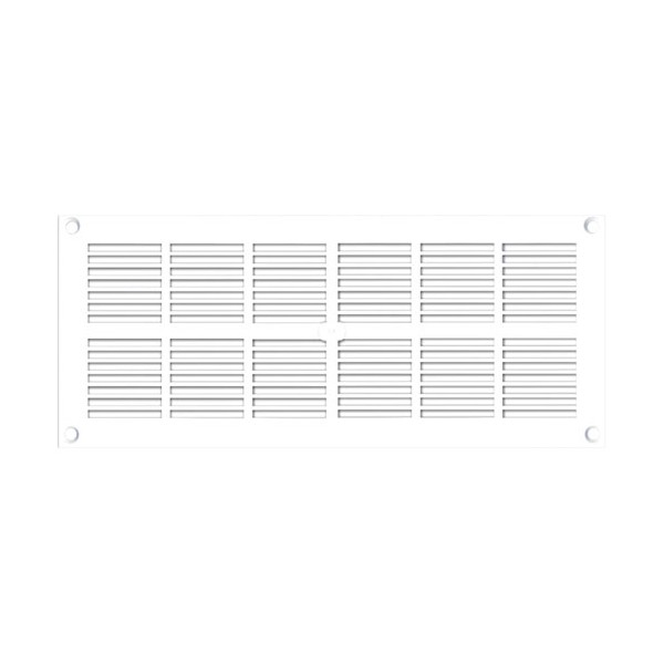 Grille ventilation rectangle extra-plate L : 254 x 110 mm - blanc - 200178 - AUTOGYRE
