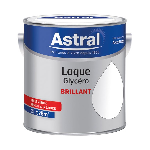 Laque glycéro brillante 2 L - base white blanc - 5213448 - ASTRAL