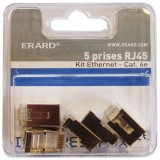Prise RJ45 cat.6 - lot de 5