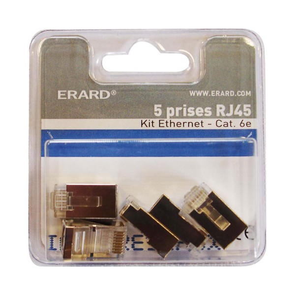 Prise RJ45 cat.6 - lot de 5 - 2334 - ERARD CONNECT