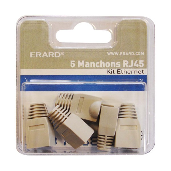 Manchon RJ45 gris - lot de 5 - 2333 - ERARD CONNECT
