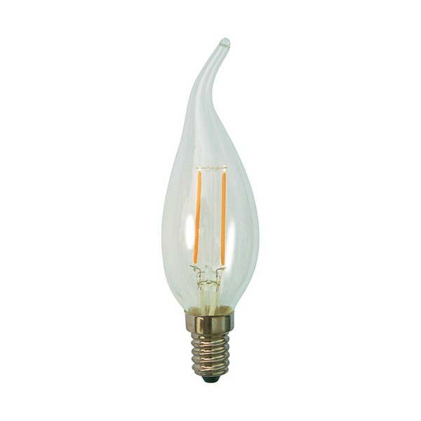 Led filament flamme CDV 2.3W E14 250 Lm - blanc clair - 15100097 - PROLIGHT