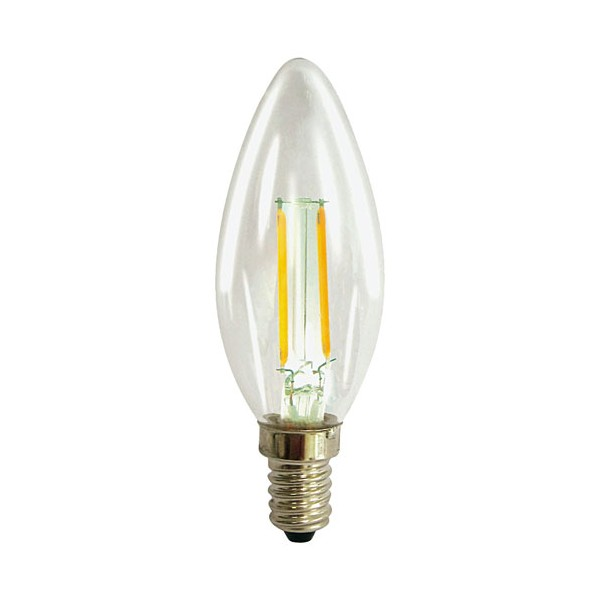 Led filament flamme 2.3W E14 250 Lm - blanc clair - 15100098 - PROLIGHT