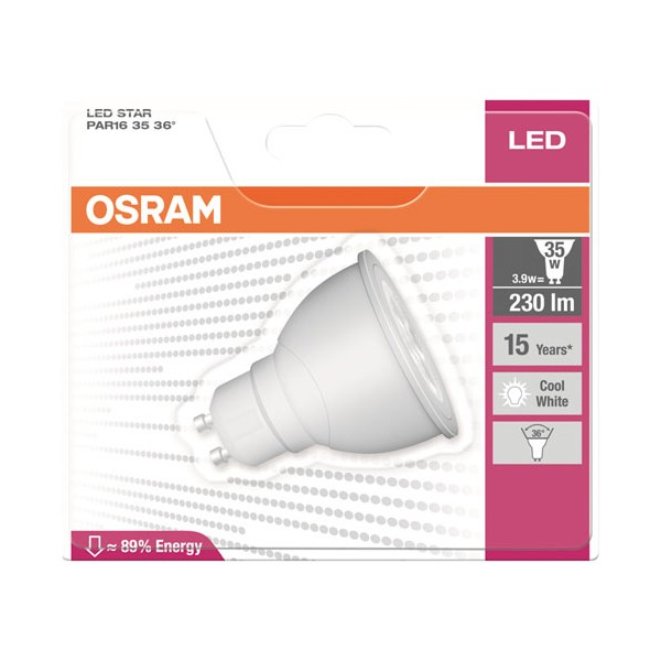 Led spot star GU10 3.9W - blanc froid - 4,0529E+12 - OSRAM