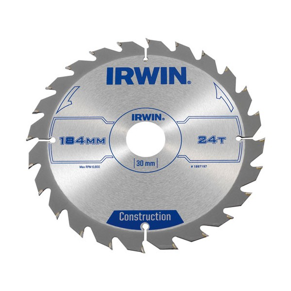 Lame scie circulaire D : 184 mm 24 dents - 1897197 - IRWIN