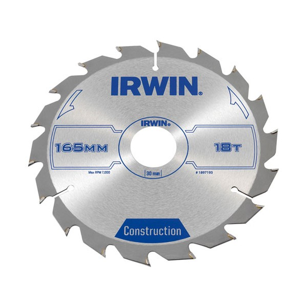 Lame scie circulaire D : 165 mm 18 dents - 1897193 - IRWIN