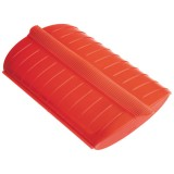 Papillote 1/2 personnes - silicone, rouge