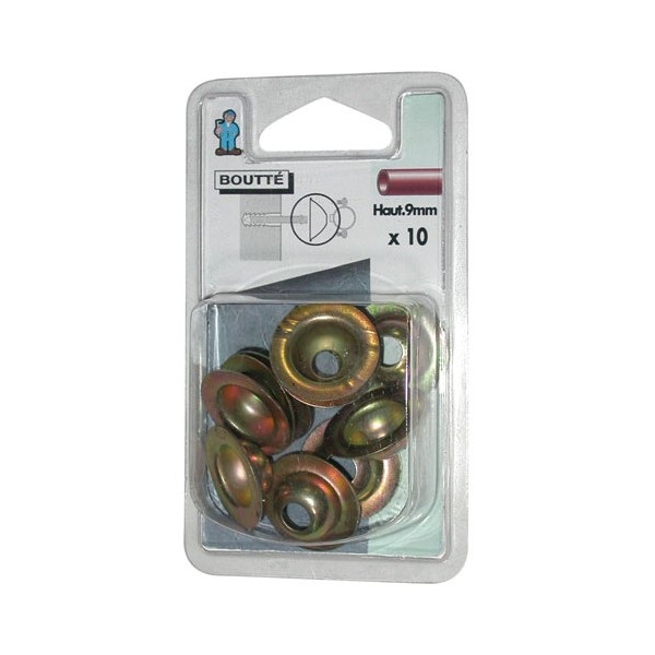 Rosace conique - lot de 10 - 9 mm - 1414511 - BOUTTE