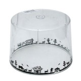 Cloche alimentaire chanterelle Alpes - plexi