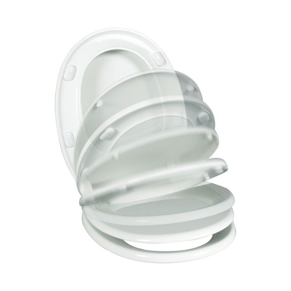 Abattant WC Serenissimo - thermoplastique - blanc - 20718012 - WIRQUIN