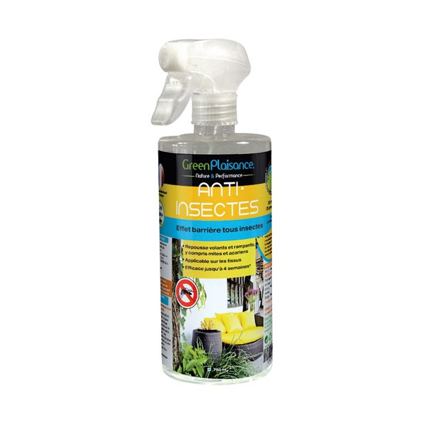 Anti insectes cologique sp cial tissus 750 ml green mosquito green plaisance home boulevard for Peinture anti insecte