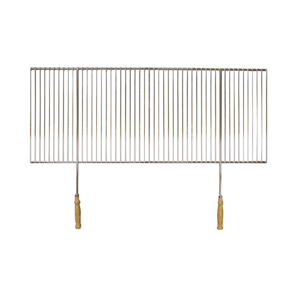 grille barbecue recoupable 2 poignees 70 x 40 cm