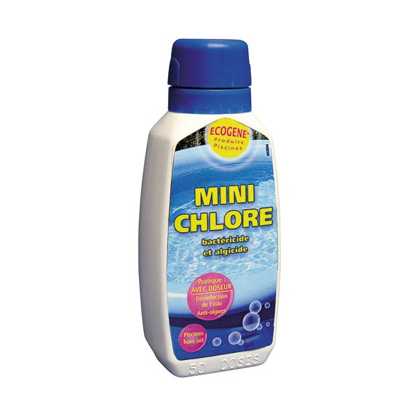 Mini chlore piscine hors sol 100g 47753 ecogene for Chlore dans la piscine