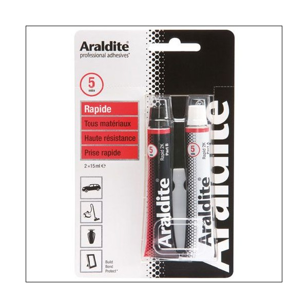 Colle époxy rapide - 2x15 mL - 33401006 - ARALDITE