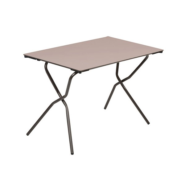 Table pliante anytime 68x110 cm taupe lfm2591 7717 for Meuble table pliante
