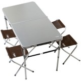 Table valise 4 places aluminium - 120x60 cm