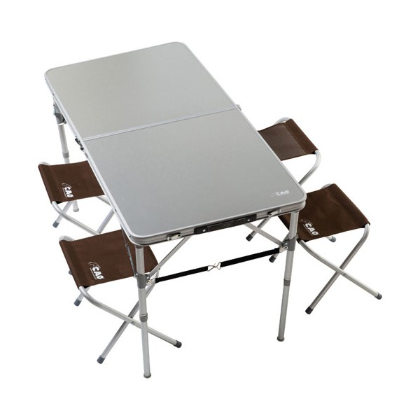 Table valise 4 places aluminium - 120x60 cm - 7007 - CAO
