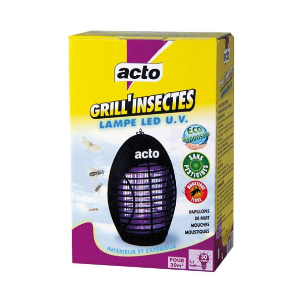 ACTO GRILL'INSECTES LED UV
