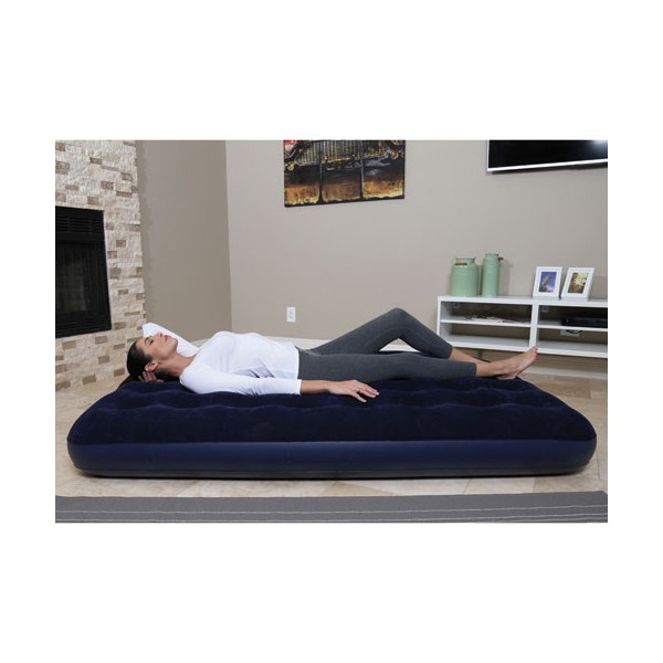 matelas floqu 2 places bleu 67002 bestway home. Black Bedroom Furniture Sets. Home Design Ideas