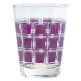 Verre Home square 22cl violet - lot de 6