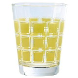 Verre Home square 22cl jaune - lot de 6
