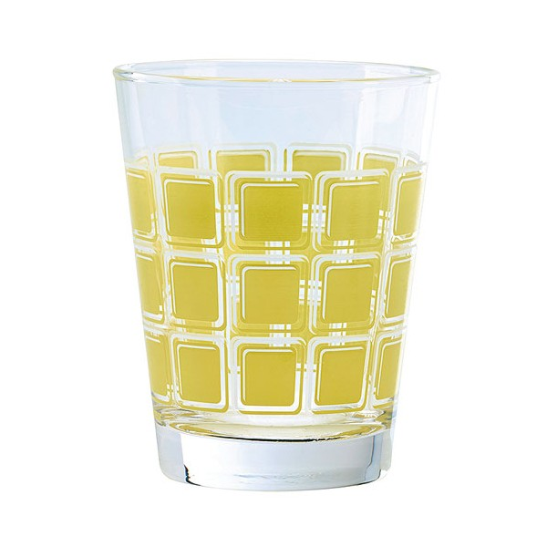 Verre Home square 22cl jaune - lot de 6 - 82720 - DUROBOR