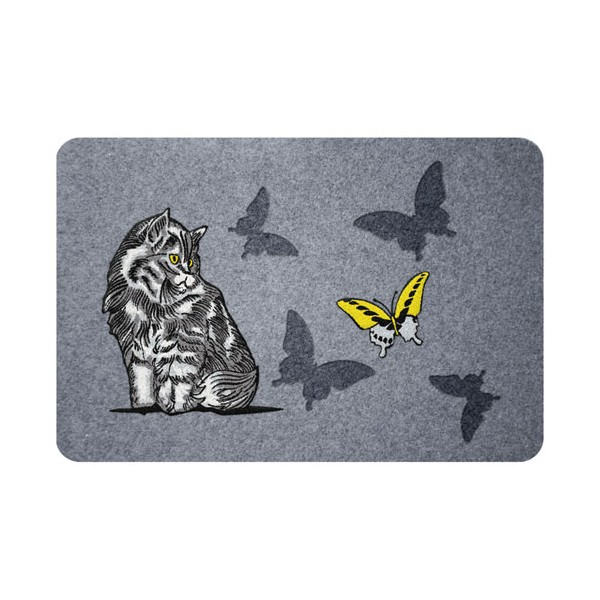 Paillasson flock estampes chat - 40 x 60 cm - FLOCKEST406002C - ID MAT