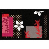 Tapis absorbant graphique floralie - 50 x 76 cm