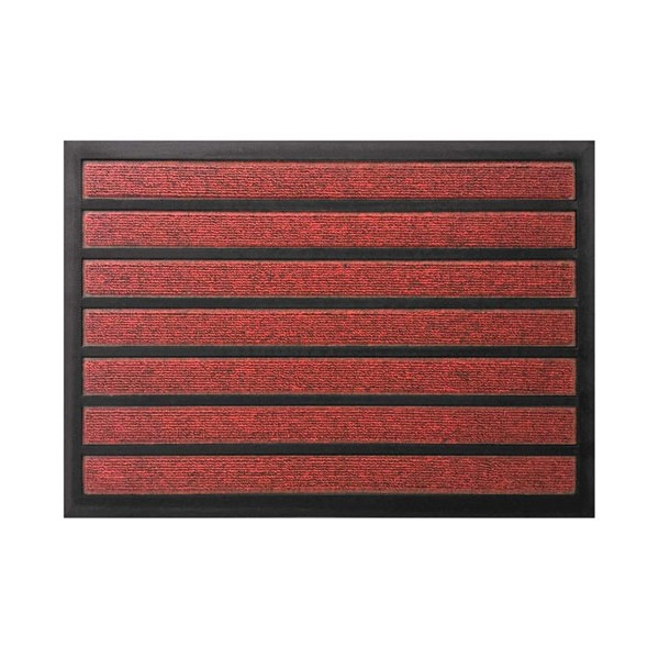 Tapis combi absorbant grattant rouge - 40 x 60 cm - COMBIABSORB4060 - ID MAT