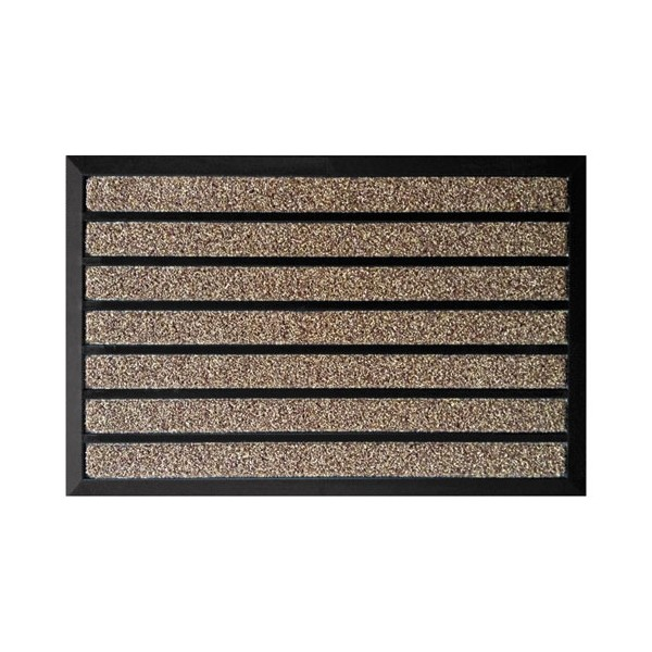 Tapis grattant combi brush marron 60 x 90 cm for Tapis de cuisine absorbant