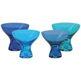 Coupe à glace Kador 33cL bleu - lot de 4