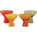 Coupe à glace Kador 33cL jaune  - lot de 4