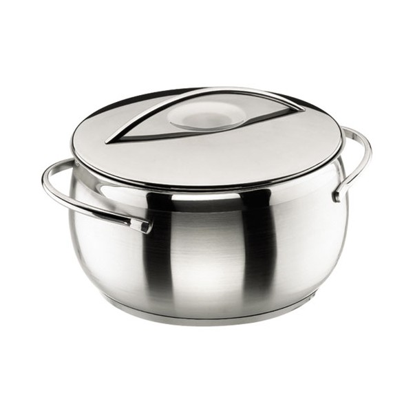 Faitout Belly bombé D: 24 cm + couvercle inox - 79024 - LACOR