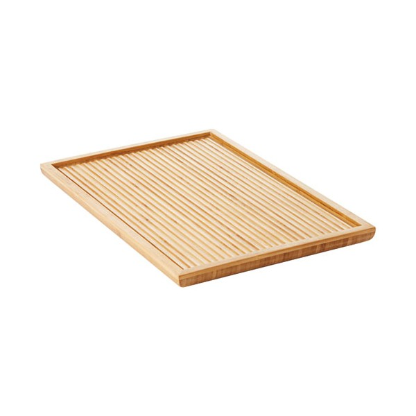 Plat de service rainuré PM - bamboo - PV-BAM-0919 - POINT VIRGULE