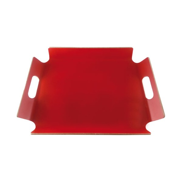 Plateau en bois rectangle - rouge - PV-LIV-1146 - POINT VIRGULE
