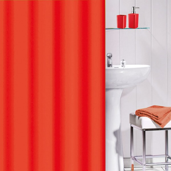 Rideau de douche PVC Flashy - rouge - 700043 - GALEDO